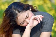 Filipina Female jovem choroso imagens de stock royalty free