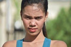 Filipina Female sérieux images libres de droits