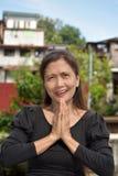 Filipina Female Senior Praying royalty-vrije stock foto