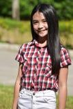 Filipina Female Tween grazioso felice immagine stock libera da diritti