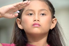 Filipina Girl mignon de salutation images stock