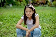 Filipina Girl Smiling photographie stock libre de droits