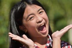 Filipina Girl sorprendido imagen de archivo libre de regalías