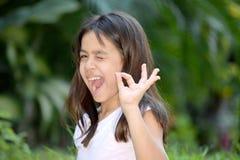 Filipina Girl Winking mignon image stock