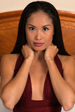 Filipina in purple Stock Photos