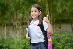 Filipina School Girl And Happiness foto de stock royalty free