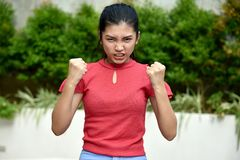 Filipina Teen Girl irritado fotografia de stock