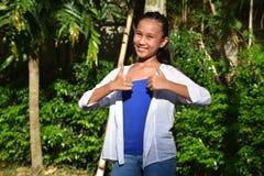 Filipina Teen Girl jeune fier photographie stock