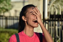 Filipina Woman And Laughter atrativo fotografia de stock royalty free