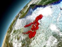 Filipinas de la órbita de Earth modelo Imagen de archivo libre de regalías
