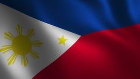 Filipinas señalan 3d por medio de una bandera que agita abstraiga el fondo Animación del lazo