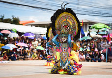 Filipinas têm a dança do divertimento Fotos de Stock Royalty Free