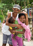 Filipino Aeta family Stock Photography