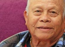 Filipino Asian Senior. Face shot of a charming senior Filipino man Royalty Free Stock Photo