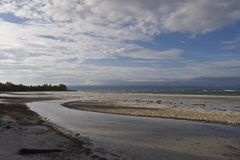 Filipino beach at low tide after a typhoon Royalty Free Stock Photography