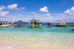 Filipino boat in El Nido, Philippines Royalty Free Stock Photography