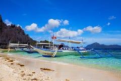 Filipino boat in El Nido, Philippines Royalty Free Stock Image