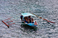 Filipino boat in the sea, El Nido, Philippines Royalty Free Stock Photos
