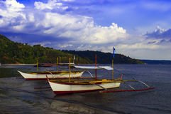 Filipino Boats of Subic Bay. Royalty Free Stock Photos