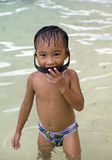 Filipino Boy at the Beach Stock Images