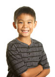 Filipino Boy on White Background Looking Happy and Confident Stock Images