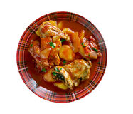 Filipino Chicken Asado Stock Photo