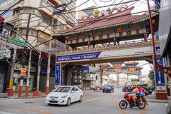 Filipino - Chinese Friendship Arch. At Ongpin Chinatown, Manila , Philippines Royalty Free Stock Photos