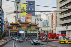 Filipino - Chinese Friendship Arch. At Ongpin Chinatown, Manila , Philippines Royalty Free Stock Photo