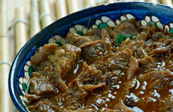Filipino Chocolate Meat Dinuguan royalty free stock image