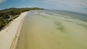 Filipino coast near with sea, Bohol Island, Philippines. Aerial view. Filipino coast near with sea, Bohol Island, Philippines. Aerial view stock footage