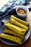 Filipino delicacy food. Locally called suman Stock Image