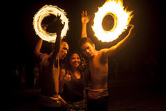 Filipino Fire Dancers Stock Images