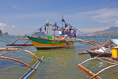 Filipino Fishing Boats Stock Image