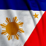 Filipino Flag Closeup Royalty Free Stock Photos