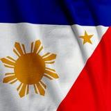 Filipino Flag Closeup. Close up of the Filipino flag, square image Royalty Free Stock Photos