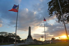 Filipino Flag & Monument at Rizal Park Stock Images