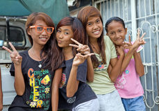 Filipino Girls Stock Photography