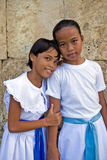 Philippines - Two Young Girls Stock Images