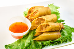 Filipino lumpia top view Stock Images