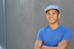 Filipino male with copy space on the left Stock Photography