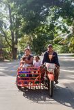 Local Philippines Family transport. royalty free stock images
