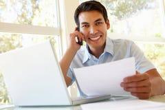 Filipino man working at home Stock Photo