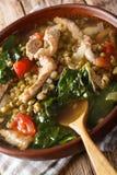 Filipino Mungo Guisado Mung Bean Soup close-up in a bowl. vert Royalty Free Stock Image