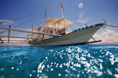 Filipino outrigger ready to navigate Stock Image