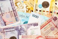 Filipino Peso Bank Notes Stock Photo