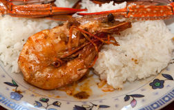 Filipino Recipe of Adobo Style Shrimp Stock Image