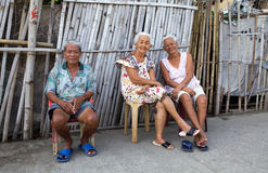 Filipino senior citizens Stock Photo