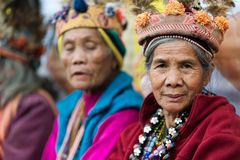 Filipino senior Ifugao tribe woman Stock Photo