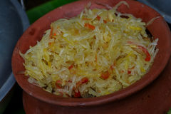 Filipino side dish Atsarang Papaya. & x28;pickled papaya& x29 Royalty Free Stock Photography