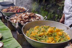 Filipino style lunch buffet. In Philippines Stock Photography